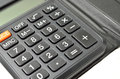 Black calculator isolated on white background Stock Images