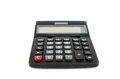 Black calculator isolated on white Royalty Free Stock Photo