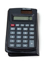 Black calculator on white Royalty Free Stock Images