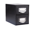 Black Cardboard File Drawer Stock Images