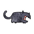 Black cat cartoon Royalty Free Stock Photo