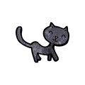 Black cat cartoon Royalty Free Stock Images