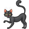 Black cat cartoon cute beautiful Royalty Free Stock Photography