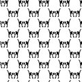 Black cats seamless angry abstract white mirror white and heads Stock Photos