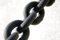 Black chain closeup on white background Royalty Free Stock Photos