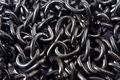 Black chain texture metal links background Royalty Free Stock Image