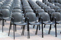 Black chairs Royalty Free Stock Photo