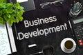 Black Chalkboard with Business Development. 3D Rendering.
