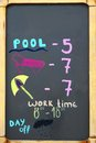 Black Chalkboard With Paid Beach Price Royalty Free Stock Photo