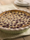Black Cherry Clafoutis Stock Photos