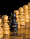 Black chess pawn Royalty Free Stock Image