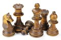 Black chessmen Royalty Free Stock Photo
