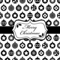 Black and christmas wrapping Stock Photos