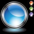 Black Chrome Icons - Blank Royalty Free Stock Photo
