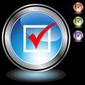 Black Chrome Icons - Checkmark Stock Photography