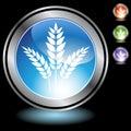 Black Chrome Icons - Grain Royalty Free Stock Photo