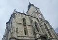The Black Church (Biserica Neagra) from the square Piata Sfatului. Brasov, Romania Royalty Free Stock Photo