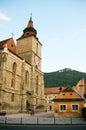 Black church in brasov transylvania romania city name and the Royalty Free Stock Image