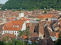 Black church and the near from brasov Stock Photo