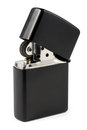 Black cigarette lighter Stock Image
