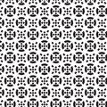 Black circle and black crosswise square inside and outside pattern