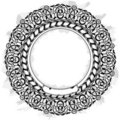 Black circle frame Royalty Free Stock Photo