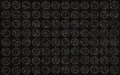Black circles abstract background for use in design or image work Stock Photos