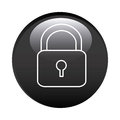 black circular frame with padlock icon Royalty Free Stock Photo