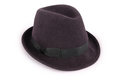 Black classic fedora hat Clipping path Royalty Free Stock Photo