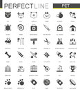 Black classic web Pet shop icons set.