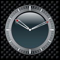 Black clock face Royalty Free Stock Image