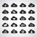 Negro nube icono