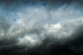 Black clouds storm front Royalty Free Stock Photo