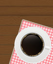 Black Coffee Background. Photo-Realistic Vector Royalty Free Stock Photo