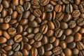 Black coffee beans background, high resolution Royalty Free Stock Image