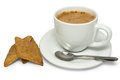 Black coffee and cookies isolated on white background Stock Photography