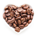 Black coffee heart Royalty Free Stock Photo