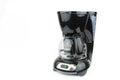 Black coffee maker on white background Royalty Free Stock Photo
