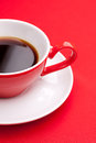 Black coffee in a porcelain dish Stock Photos