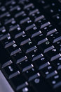 Black computer keyboard detail Royalty Free Stock Photo