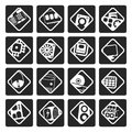 Black Computer  performance and equipment icons Royalty Free Stock Photo