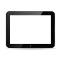 Black computer tablet touchscreen vector realistic illustration eps Stock Photos