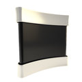 Black copyspace empty panel stand board Royalty Free Stock Photo