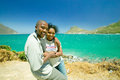 Black couple on a visit to hout bay southern cape peninsula outside of cape town south africa Royalty Free Stock Images