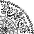 Black curled quadrant design Royalty Free Stock Photos