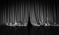 Black curtain in theater. Royalty Free Stock Photo