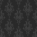 Čierny  trojrozmerný bezšvový vzor
