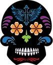 Black Day of the Dead Sugar Skull