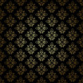 Black decorative pattern with gold gradient - eps Royalty Free Stock Photography