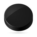 Black disk illustration of on white background Royalty Free Stock Images